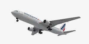 3d model boeing 767-300 plane air france