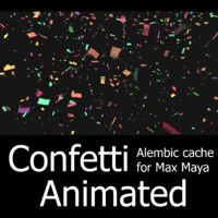 Confetti ( animated cache ) For Maya / Max