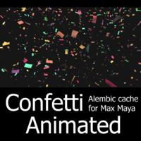 confetti animation cache 3d 3ds