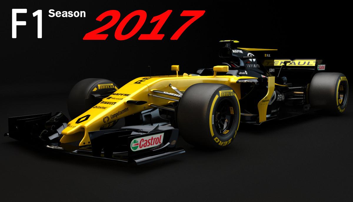 3d model f1 renault rs17 2017