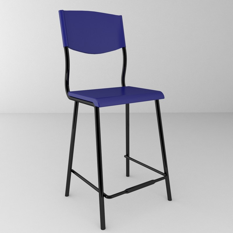 3d model of kitchen chair