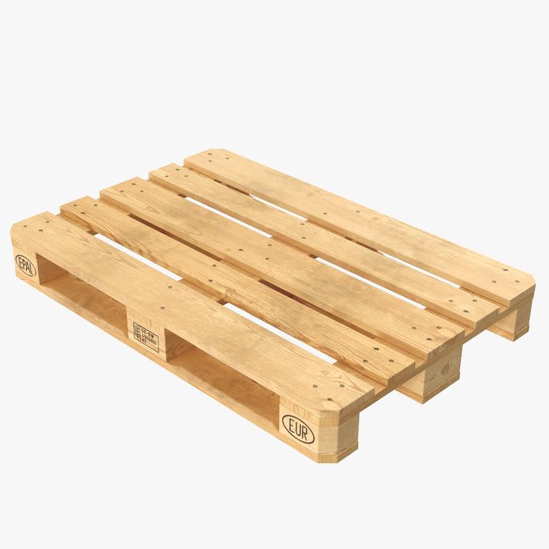 euro pallet wood 3d model