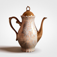 antique pot tea 3d obj