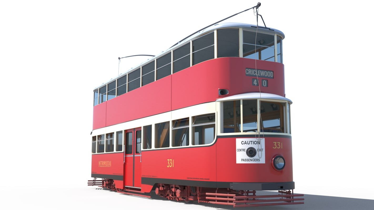 3d max electric 331 tram cissie