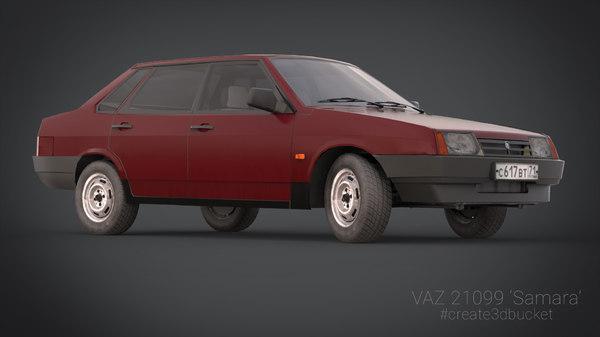 3d lada samara russian model