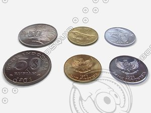3d indonesian old coins