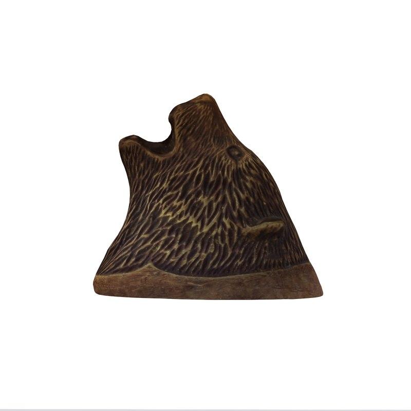 3d model bronze bear