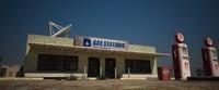 3d desert gas station building