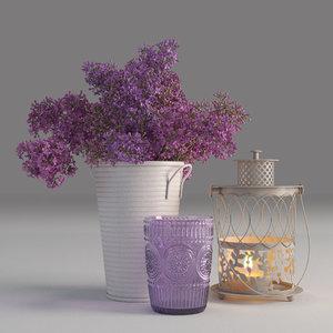 decorative set lilac vase max