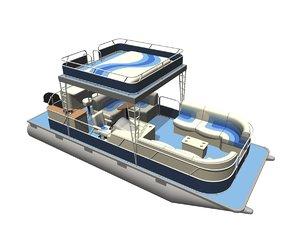 pontoon boat 3ds
