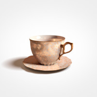 antique cup tea 3d obj