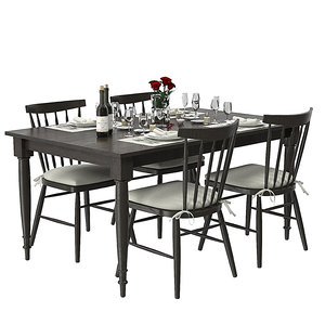 set wolcott extention dining table max