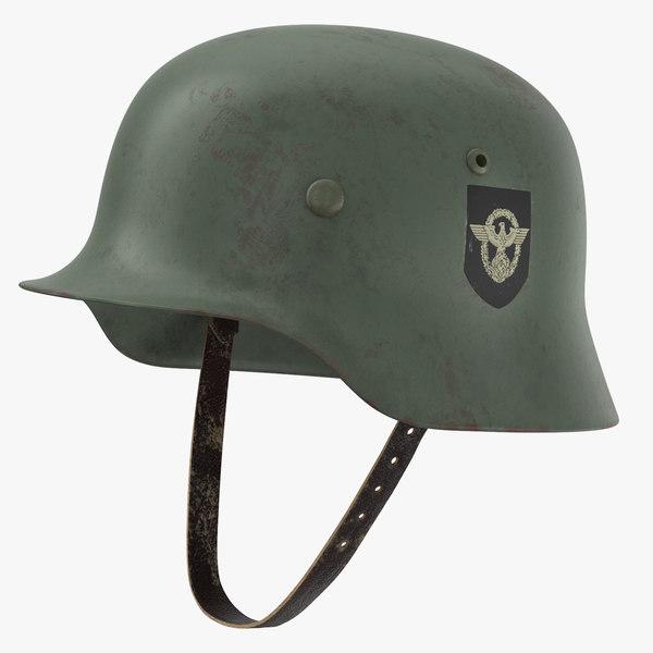 3d model german wehrmacht helmet wwii
