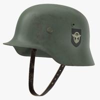 German Wehrmacht Helmet - WWII - Worn
