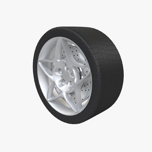 sport wheel tire 3d 3ds