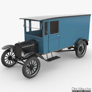 3d model tt delivery van vehicle