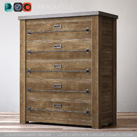 3d mercantile 5-drawer narrow dresser
