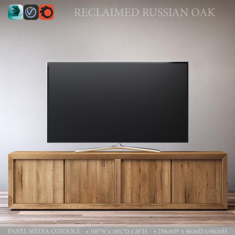 3d reclaimed russian oak panel