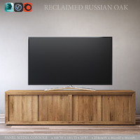 RECLAIMED RUSSIAN OAK PANEL MEDIA CONSOLE