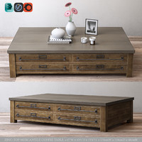 RH ZINC-TOP MERCANTILE COFFEE TABLE