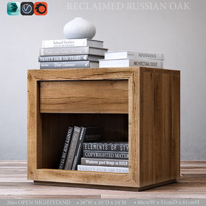 3ds reclaimed russian oak 26in