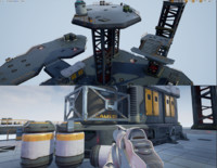 Modular Sci-Fi Space Base Location and Props - low poly