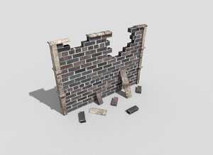 destroyed wall 3d 3ds