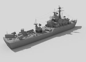 3ds destroyer ship