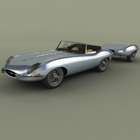 Jaguar E-Type Roadster with trailer