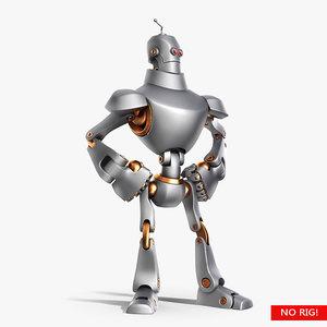 retro robot bot 3d max