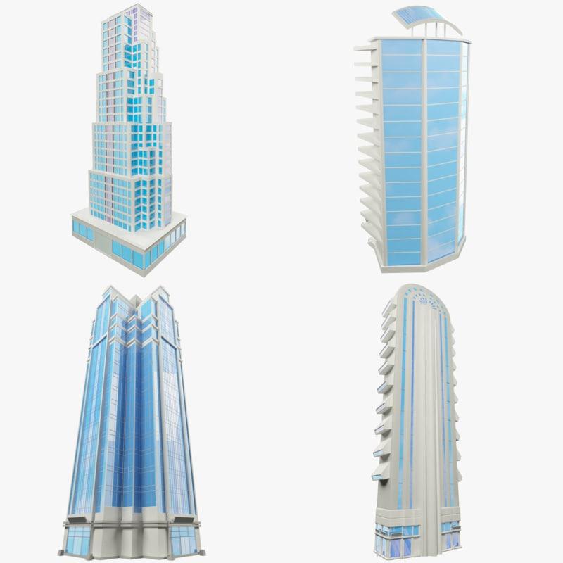 set skyscraper v1 3d model