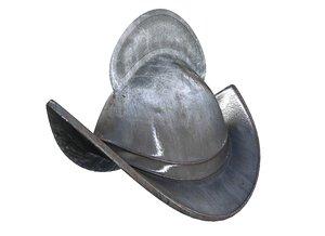 medieval spanish helmet 3d model