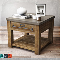 zinc-top mercantile table 3d max