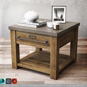 zinc-top mercantile table 3d max