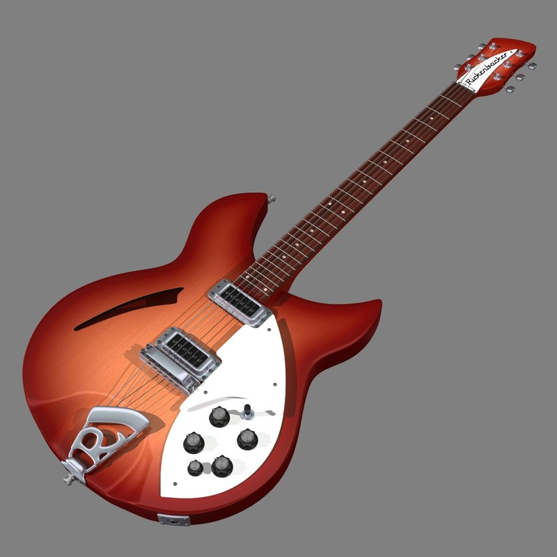 3d model rickenbacker 330