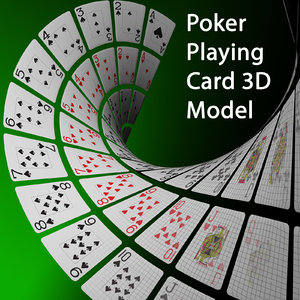 3d model poker playing card