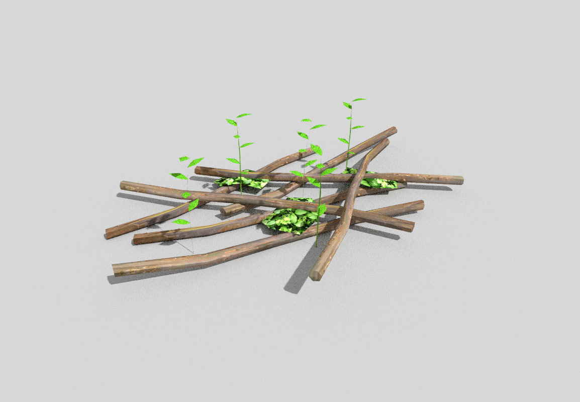 forest decoration 3d model