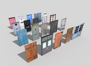 3d model pack 20 doors