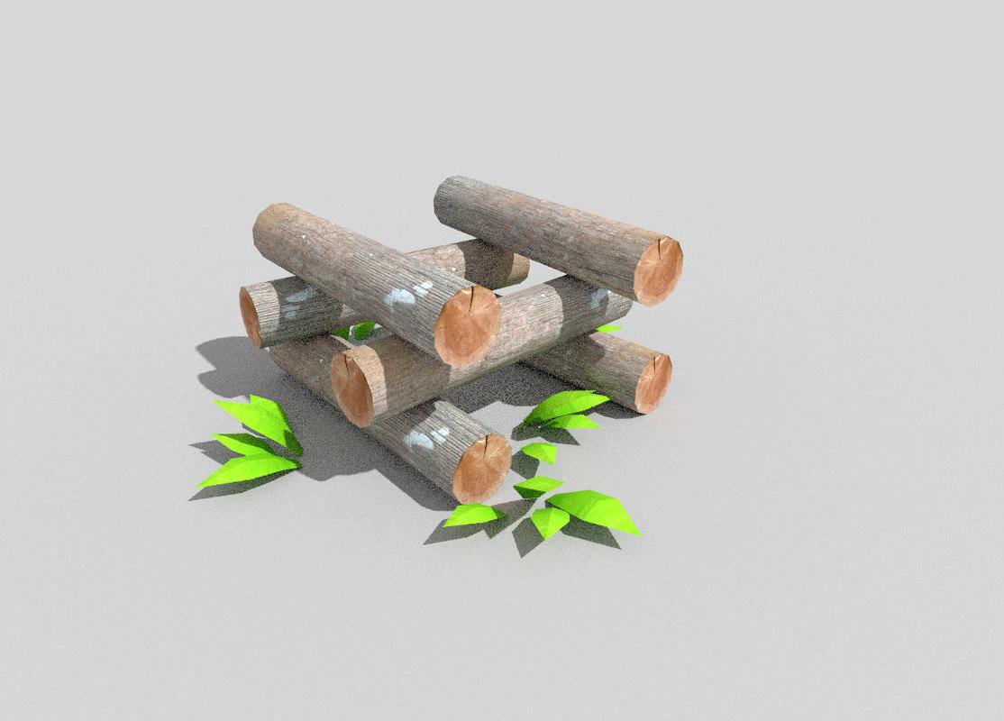 forest decoration 3d 3ds
