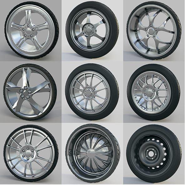 10 car wheels max
