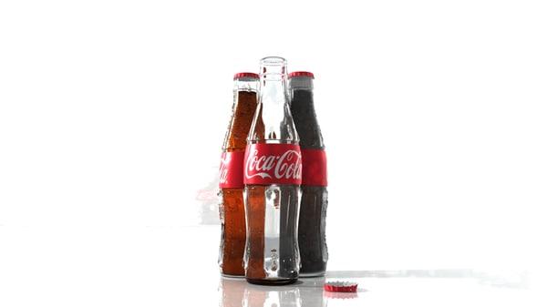 coca-cola bottles 3d ma