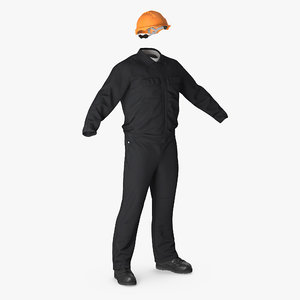 3d long sleeve coveralls uniform