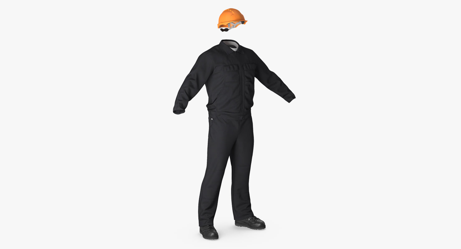 3d long sleeve coveralls uniform