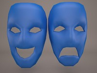 3d theater masks model