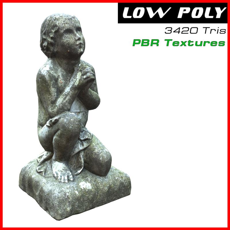 sculpture kid 3d max