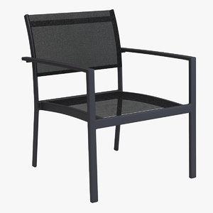 3d chair varaschin victor lounge model