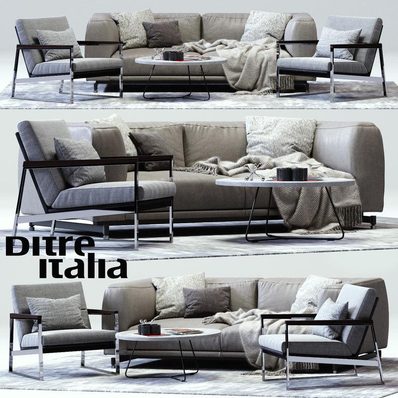 3d max ditre st germain sofa