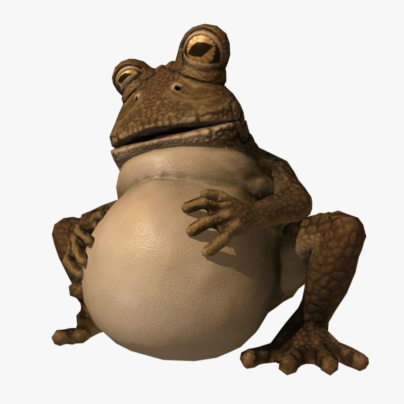 fat frog rig 3d model