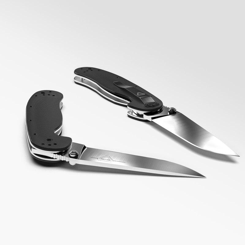 3d model knife ontario rat 1