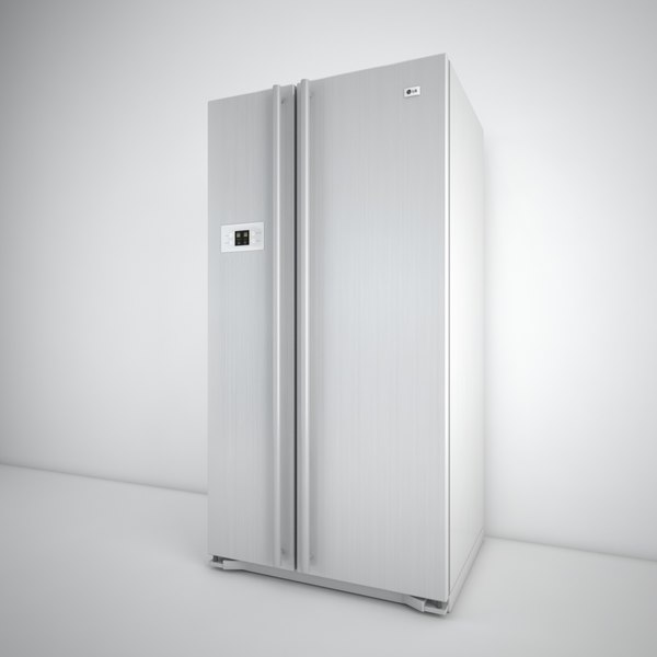 3d model lg fridge